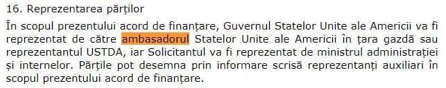 12. Extras din acord ambasador SUA