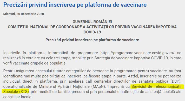 15. STS implicat în vaccinare